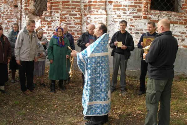 Первый крестный ход в селе Пречистое